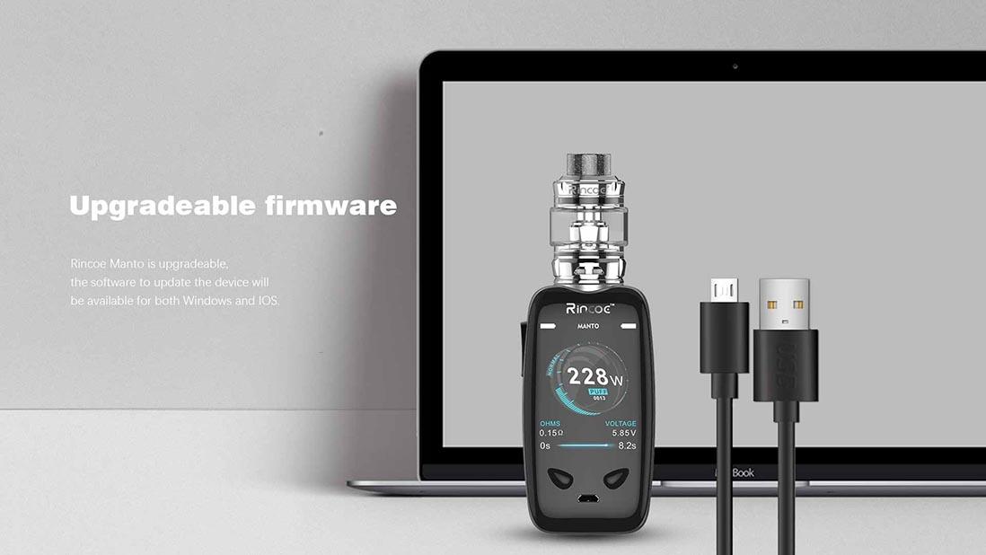 Rincoe Manto 228W TC Kit Upgradeable Firmware