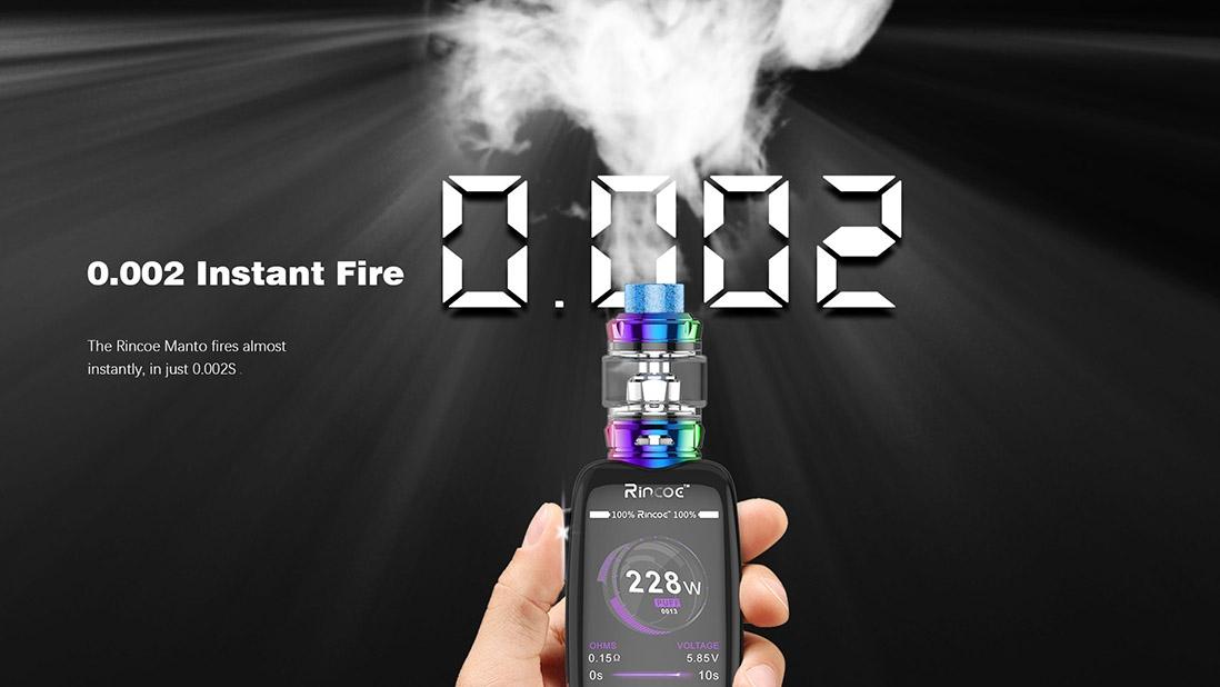 Rincoe Manto 228W TC Mod 0.002s Instant Fire