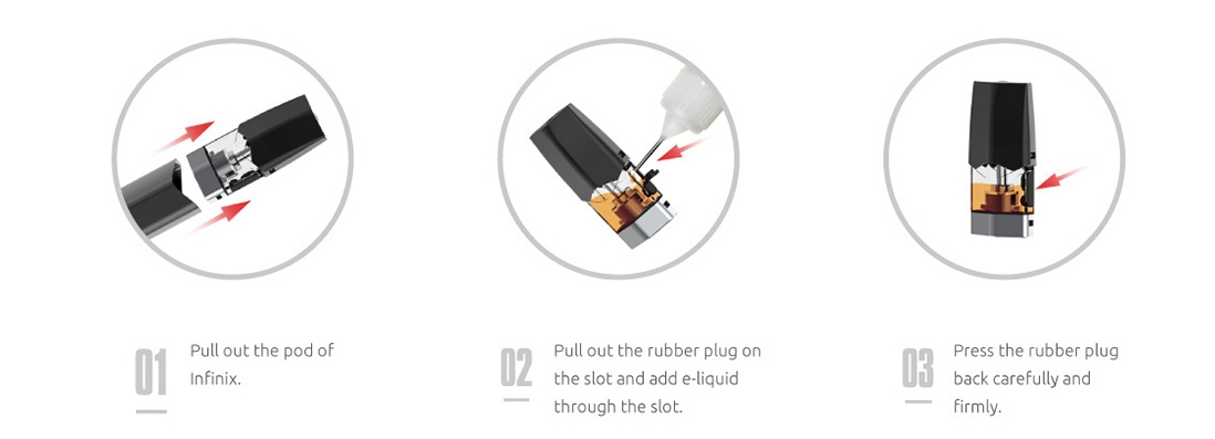 HOW TO FILL INFINIX Kit WITH E-LIQUID
