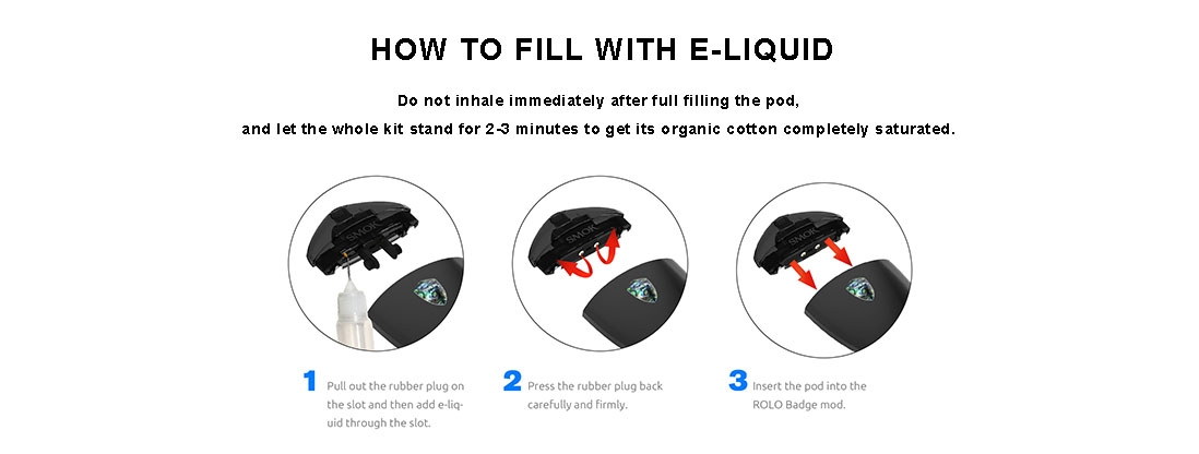 How to refill Rolo badge kit with E-liquid