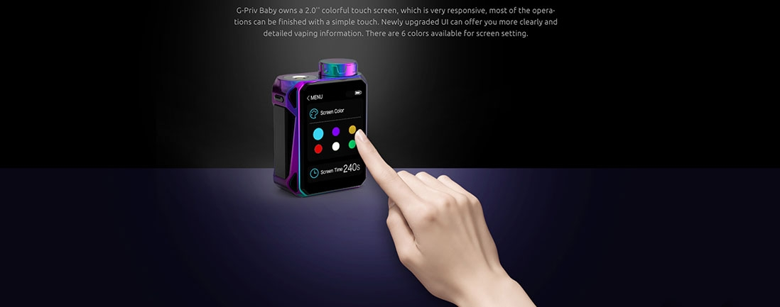 G-Priv Baby Kit Features 2.0 inch Touch Screen with Upgrade UI