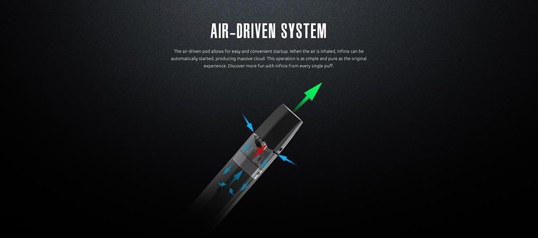 Infinix starter kit Features Air-Driven System