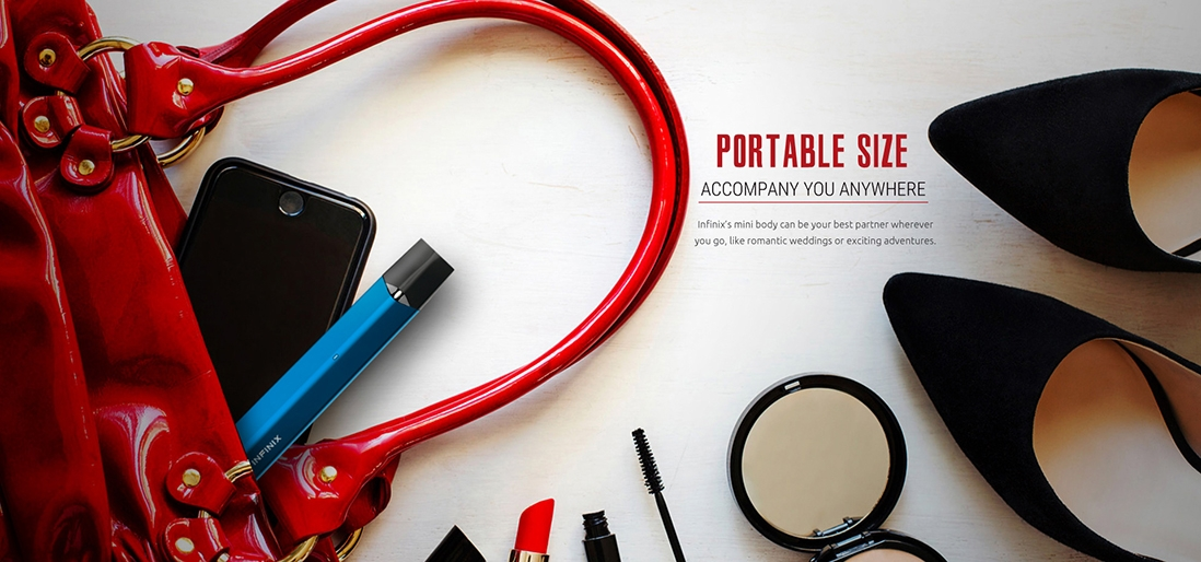 SMOK Infinix open pod starter kit features portable size