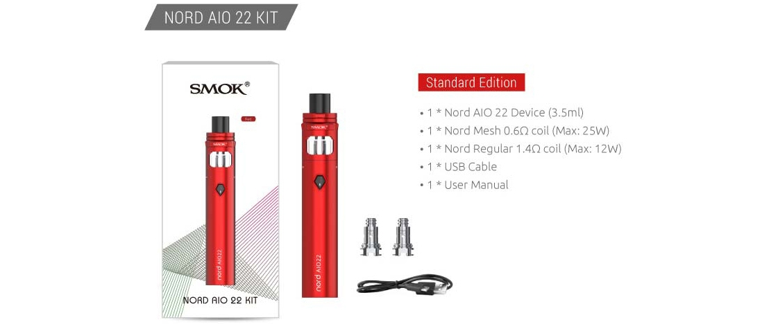 SMOK Nord AIO 22 Kit Package