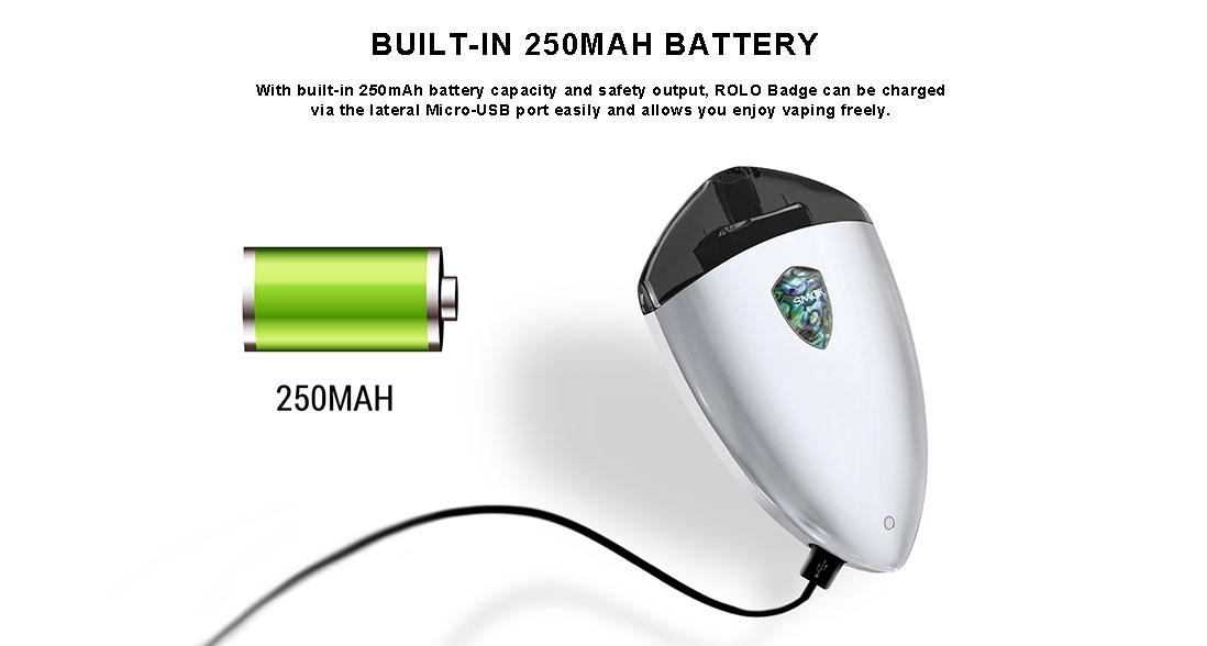 SMOK ROLO Badge Vape Pod Starter Kit Charging