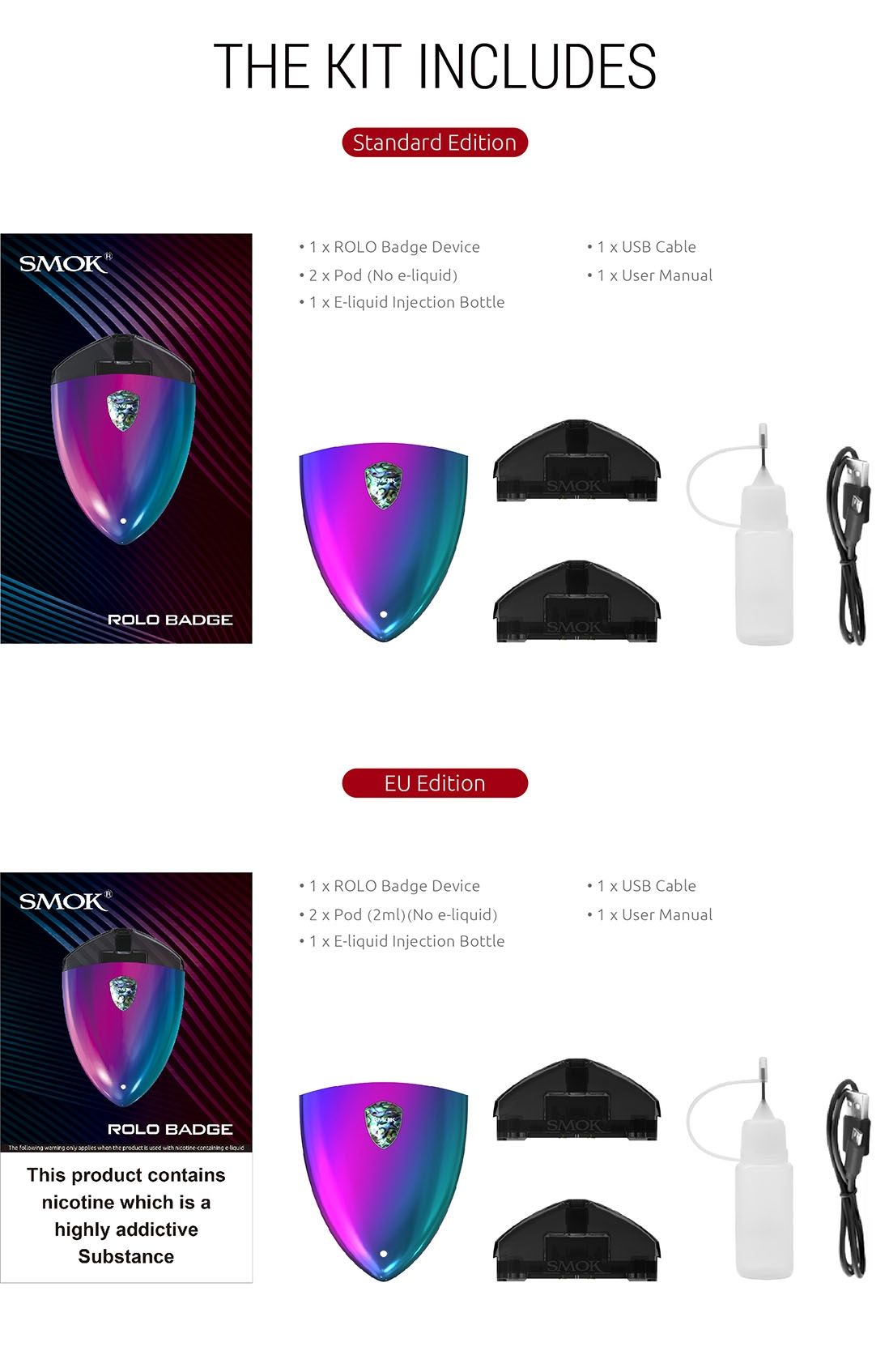 SMOK ROLO Badge Kit Package