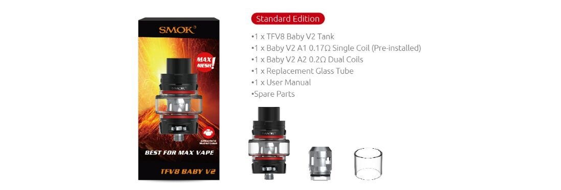 SMOK TFV8 Baby V2 Tank Package