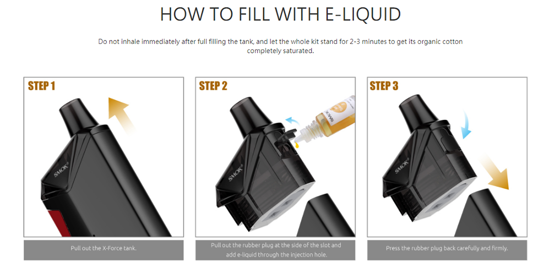 SMOK X-Force Kit Filling