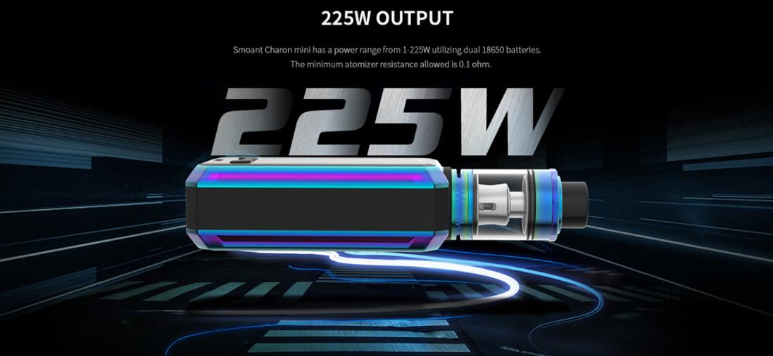 Smoant Charon Mini 225W TC Box Mod Features
