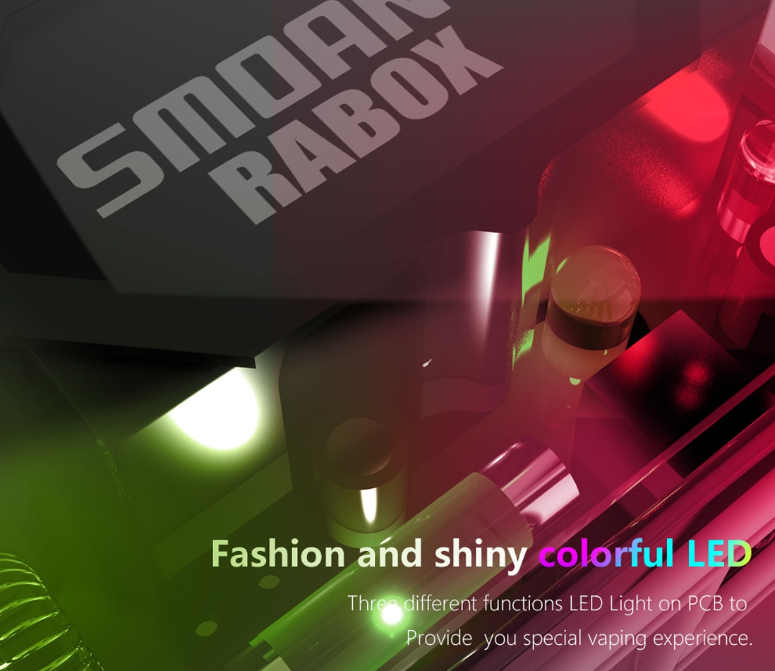 Smoant Rabox 100W Mod features 3