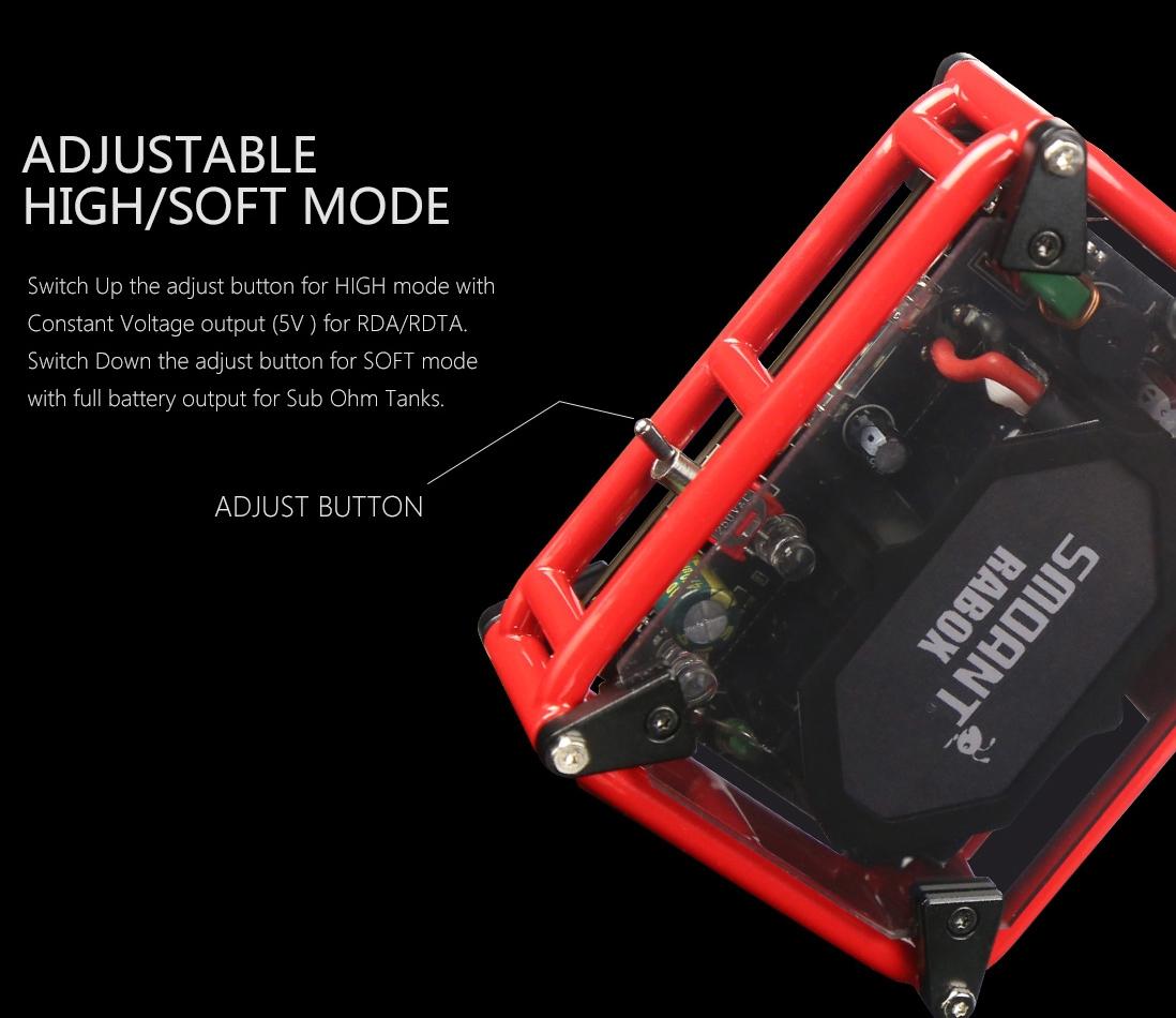 Smoant Rabox 100W Mod features 4