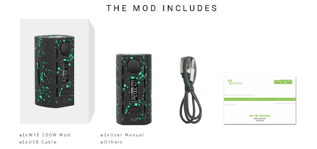 Tesla WYE 200W Mod Packing List