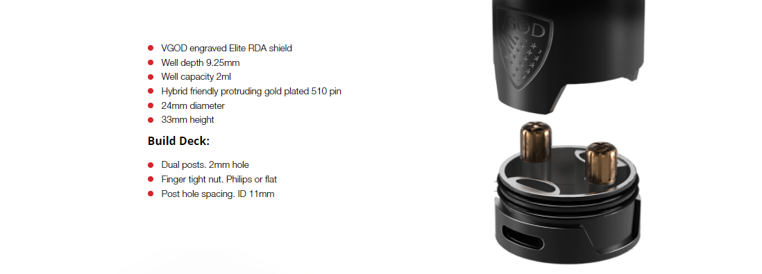 VGOD Elite RDA Features