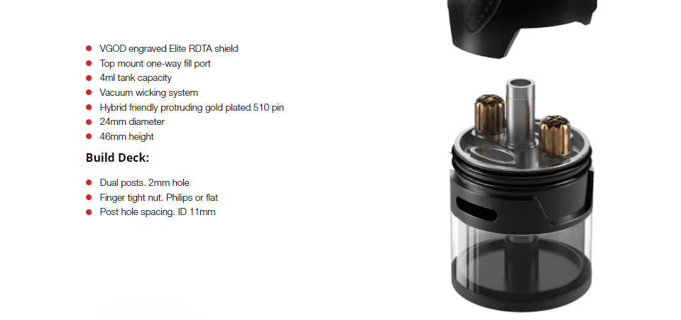 VGOD Elite RDTA Features