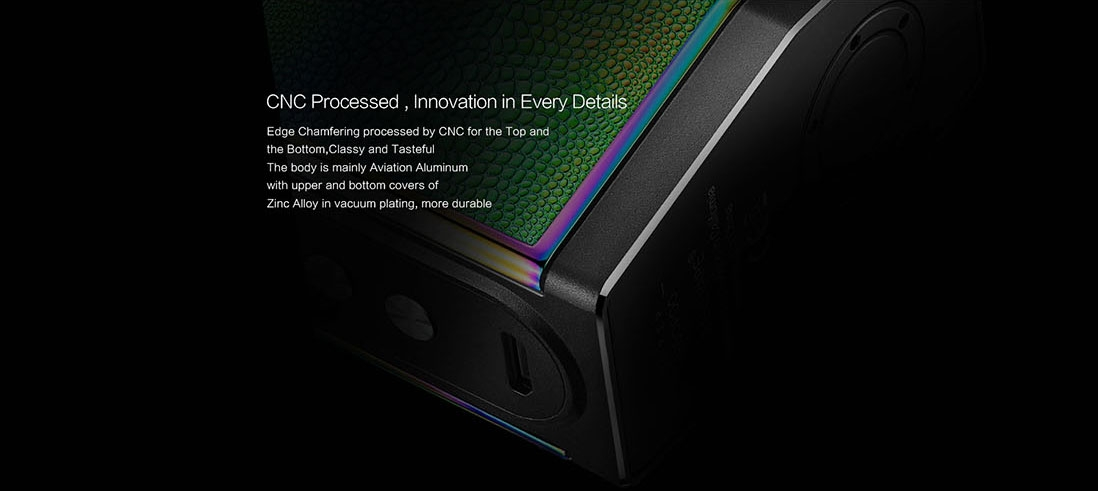VOOPOO TOO 180W TC Box Mod Black Frame Features CNC Processed