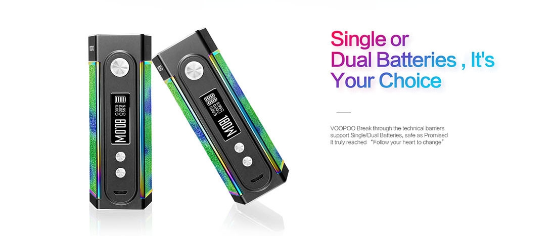 VOOPOO TOO 180W TC Box Mod Black Frame Features Single or Dual Batteries