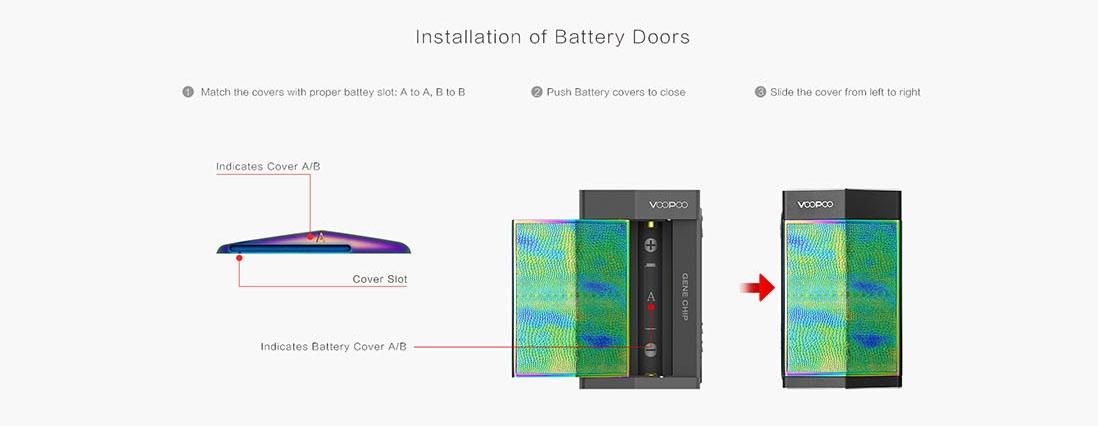 Features Installation of Battery Doors