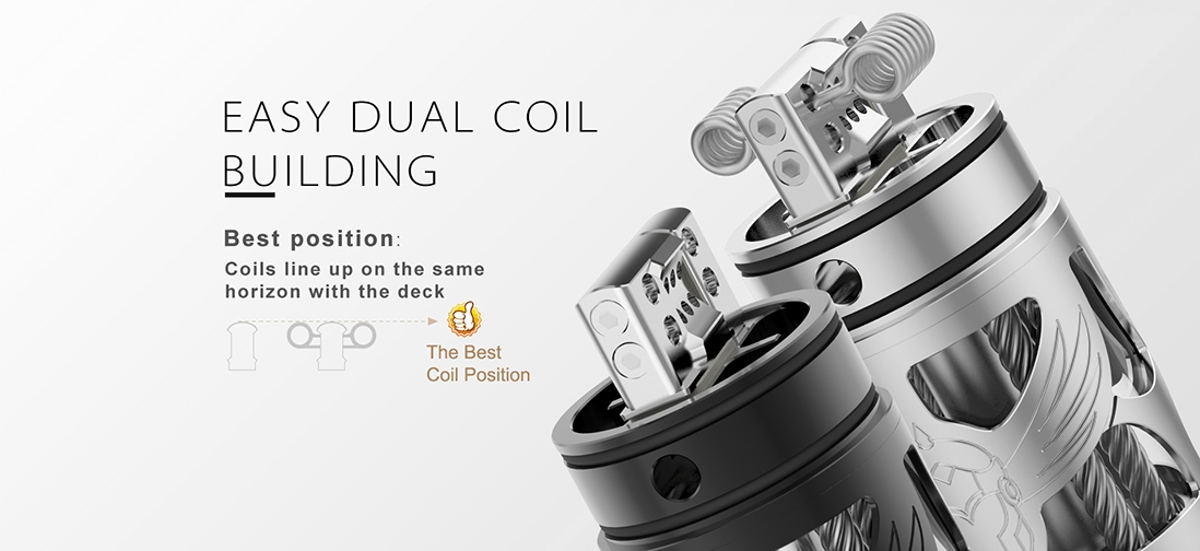 Vapefly Brunhilde Top Coiler RTA Build Deck