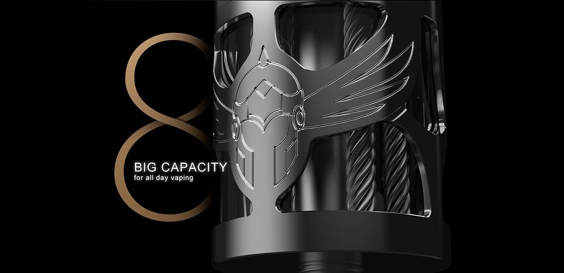 Vapefly Brunhilde Top Coiler RTA Capacity