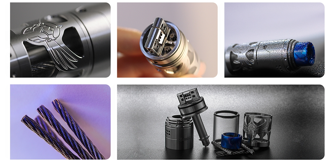 Vapefly Brunhilde Top Coiler RTA Real Shots