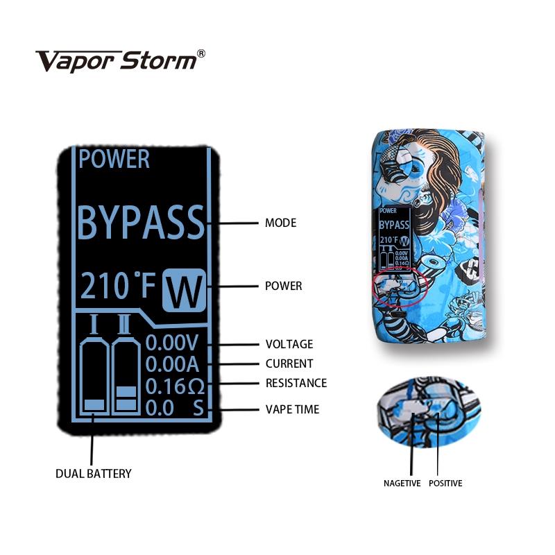 Vapor Storm Puma 200W Box Mod Features