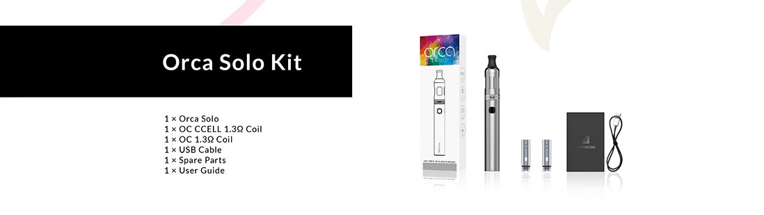Vaporesso Orca Solo AIO Starter Kit Package List