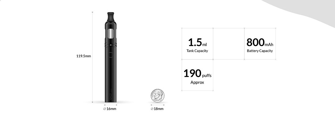 Vaporesso ORCA SOLO Vape Pen Kit Parameters