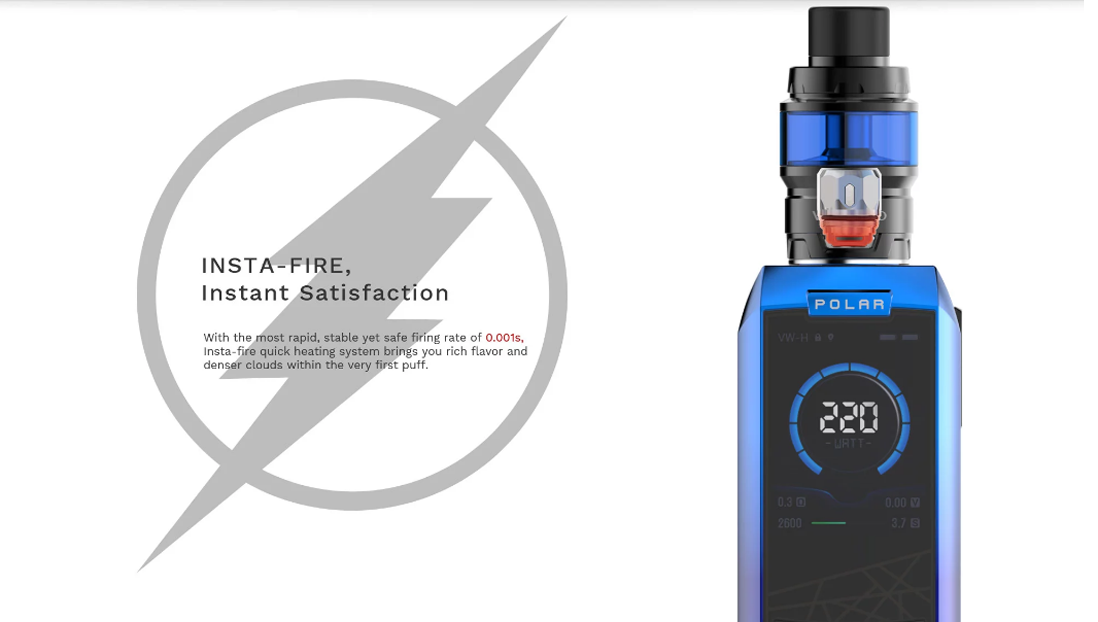 Vaporesso Polar with Cascade Baby SE Kit  features 7