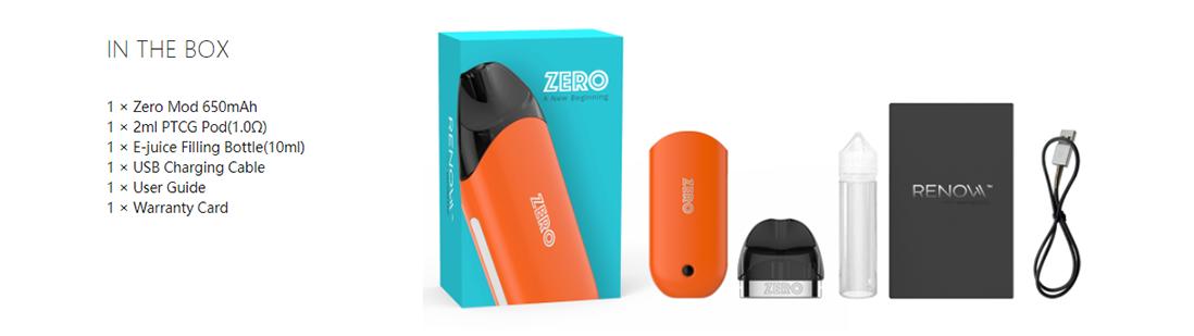 Vaporesso Renova Zero Pod Kit Packing List