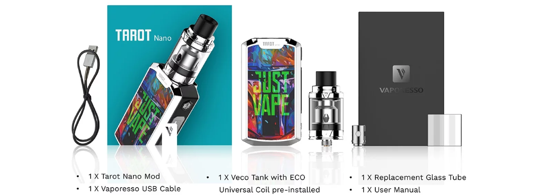 Vaporesso Tarot Nano Kit New Colors Package