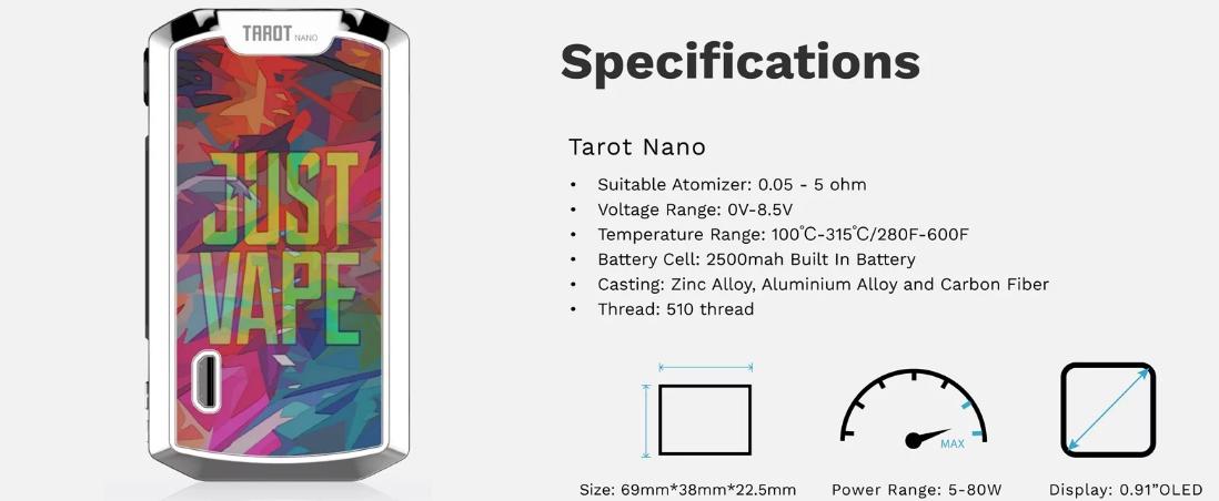 Vaporesso Tarot Nano 80w tc mod