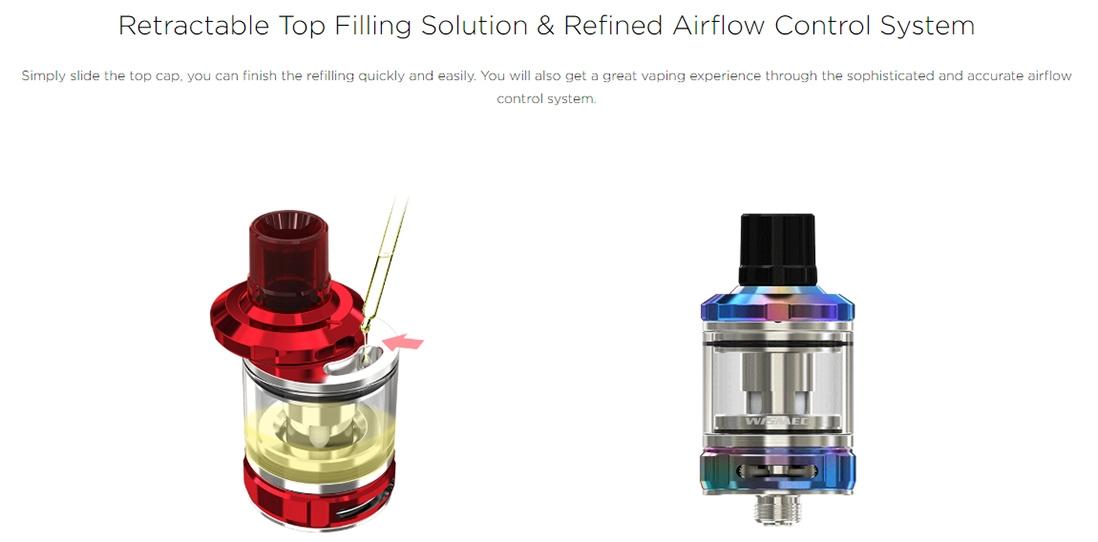 Wismec AMOR NS Pro Filling & Airflow