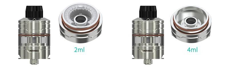 Wismec Divider Atomizer Capacity