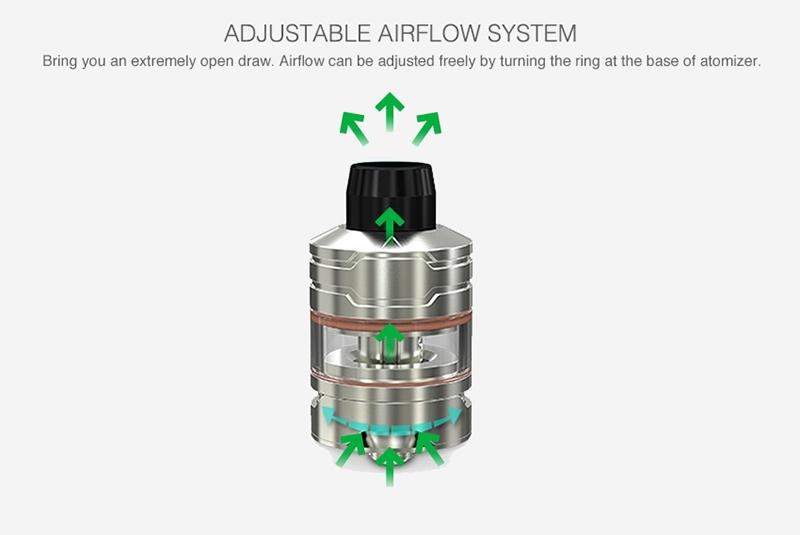 Wismec Divider Atomizer Airflow