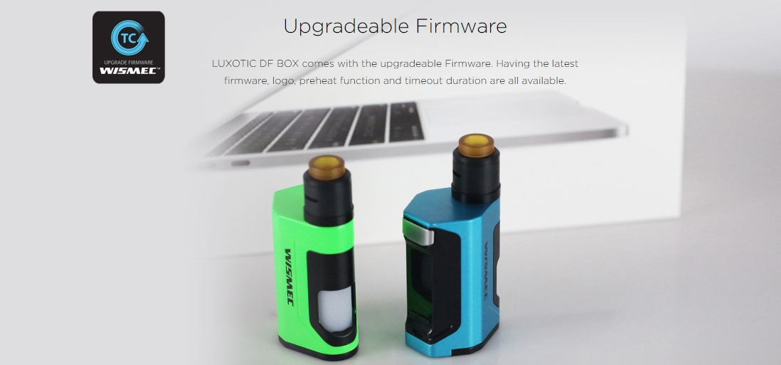 Wismec LUXOTIC DF BOX Mod Upgradeable Firmware