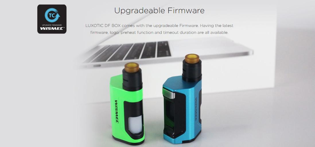 Wismec LUXOTIC DF BOX Mod Upgradeable Firmware