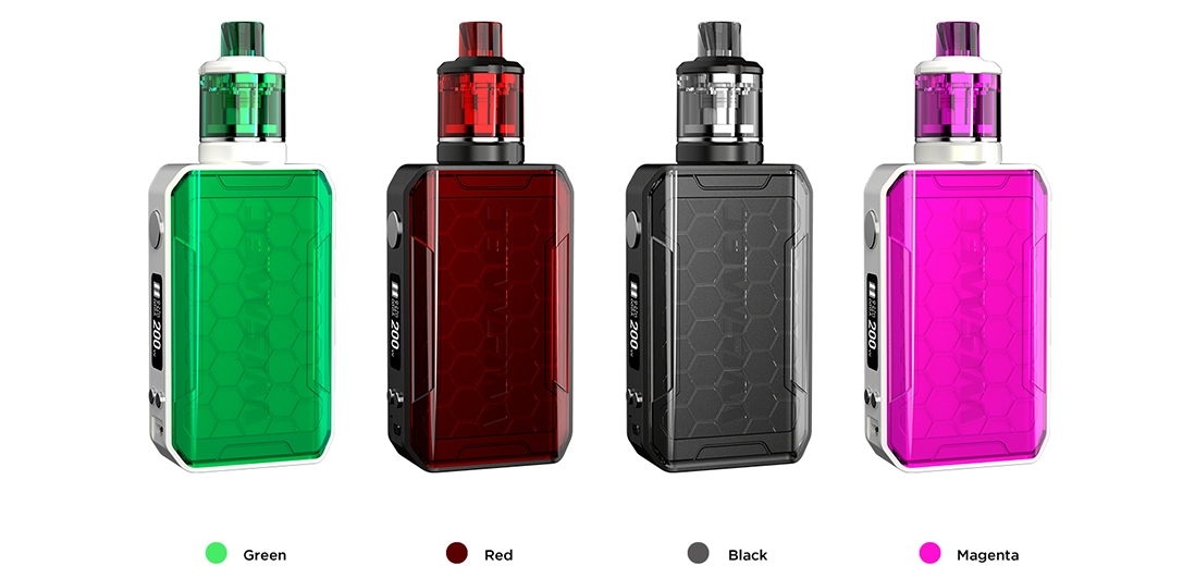 Wismec SINUOUS V200 Kit Colors
