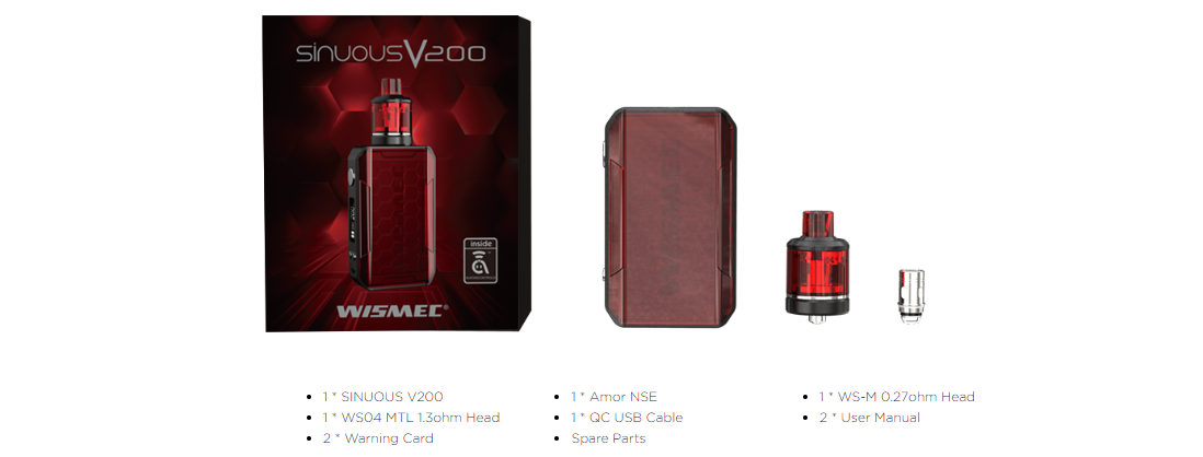 Wismec SINUOUS V200 Package