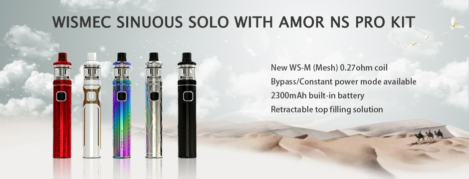 Wismec SINUOUS SOLO with AMOR NS Pro Kit