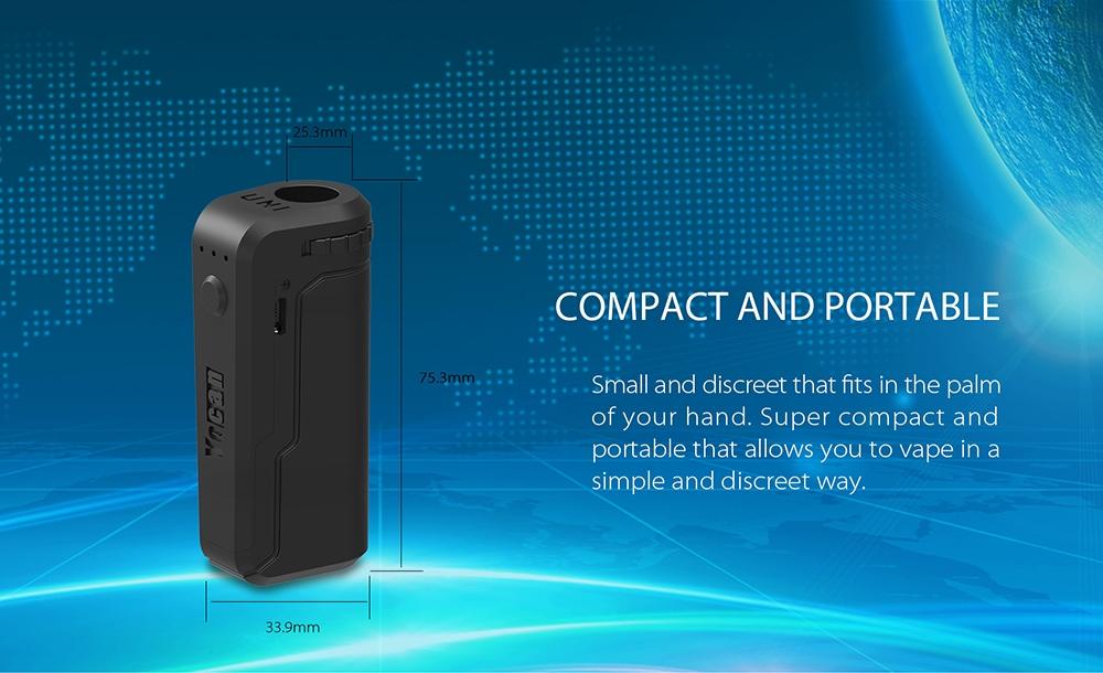 Yocan UNI Box Mod Portable size