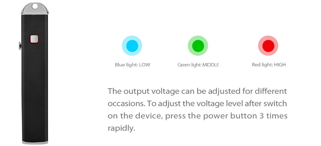 Yocan Stealth Kit  adjustable voltage