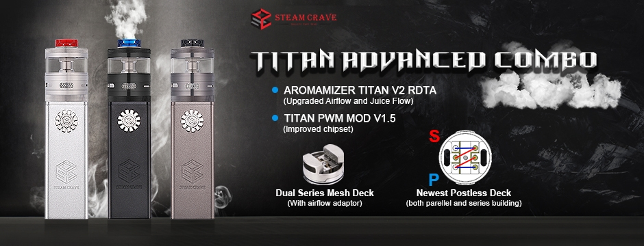 Steam Crave Titan V2 Advanced Kit