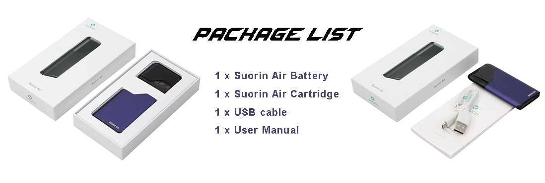 Suorin Air Pod AIO Kit Package List